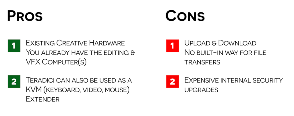 Bebop and Teradici Webinar remote editings pros and cons